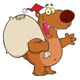 熊圣诞节圣诞老人 库存图片