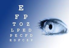 眼睛测试远见 免版税库存照片