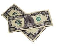 票据美元百万货币一 免版税库存照片