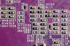 电子董事会的电路 库存图片