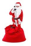 购买权克劳斯电话接受圣诞老人 图库摄影
