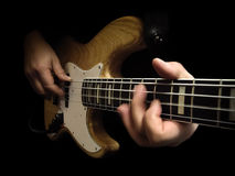 βαθιά ηλεκτρική κιθάρα Στοκ εικόνα με δικαίωμα ελεύθερης χρήσης