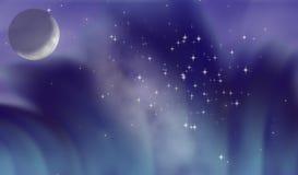 сказовая луна Стоковое Изображение