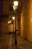 闪亮指示布拉格街道 库存图片