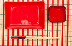 寿司碗筷 免版税库存图片