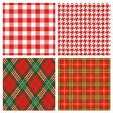 красный цвет шотландки Стоковые Изображения RF