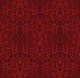 花卉红色无缝的墙纸 免版税库存图片