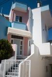 现代希腊的房子 免版税图库摄影