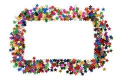 αστέρια πλαισίων εορτασμ Στοκ Εικόνες