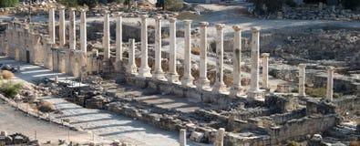 罗马古老的列 免版税图库摄影