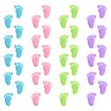 печати ноги младенца милые Стоковые Изображения RF