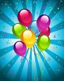 раздувает партия дня рождения счастливая Стоковая Фотография