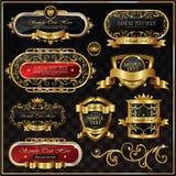 античный вектор золота рамки Стоковая Фотография RF