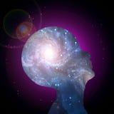 μυαλό γαλαξιών Στοκ φωτογραφία με δικαίωμα ελεύθερης χρήσης