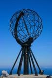 海角北部地球的纪念碑 免版税库存图片