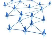 连接数人的网络 库存照片