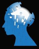 бушевать головоломки разума мозга Стоковые Изображения
