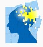 бушевать головоломки разума мозга Стоковые Фото