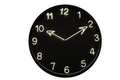 белизна черных часов неоновая Стоковая Фотография