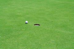 高尔夫球漏洞 库存照片