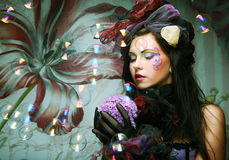 художническая повелительница куклы делает тип вверх Стоковое Изображение