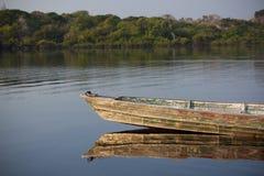 Βάρκα στο Αμαζόνιο Στοκ φωτογραφία με δικαίωμα ελεύθερης χρήσης