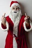 可怕的圣诞老人 库存图片