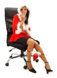 商业圣诞老人 库存图片