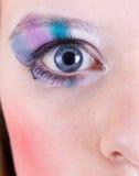 眼睛构成 免版税库存图片