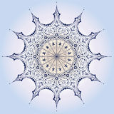 детальная одиночная снежинка Стоковое Изображение RF