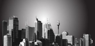 城市横向 库存图片