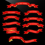 перечень тесемки знамени Стоковое фото RF