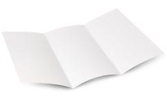 空的传单折叠视窗 免版税库存图片