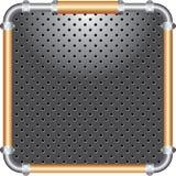бронзовая пефорированная рамка Стоковые Фотографии RF