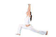 女子瑜伽 免版税库存图片