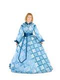 化装舞会所穿着的服装妇女 免版税库存图片