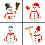 вектор снеговика Стоковое Изображение RF
