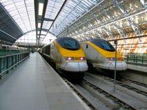 скорый поезд Стоковое Изображение
