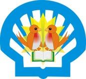 鸟设计徽标 库存照片