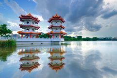 中国庭院新加坡 免版税库存照片