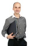 藏品膝上型计算机人年轻人 免版税库存图片