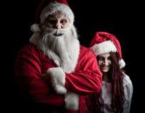可怕的圣诞老人 库存照片