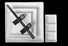 亚洲样式碗筷 库存照片