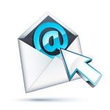 иллюстрация электронной почты Стоковое Изображение