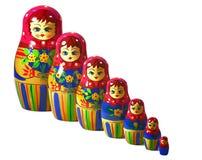 俄语的玩偶 图库摄影