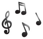 μουσικές νότες Στοκ φωτογραφία με δικαίωμα ελεύθερης χρήσης