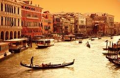 运河重创的威尼斯 库存图片