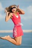 Πηδώντας κορίτσι Στοκ Εικόνες