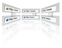 сеть соединения браузера обеспеченная Стоковое Изображение