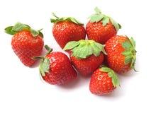 查出的草莓 免版税图库摄影